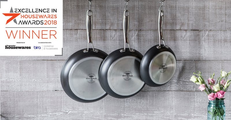 Rocktanium range - winner of Excellence in Cookware award 2018