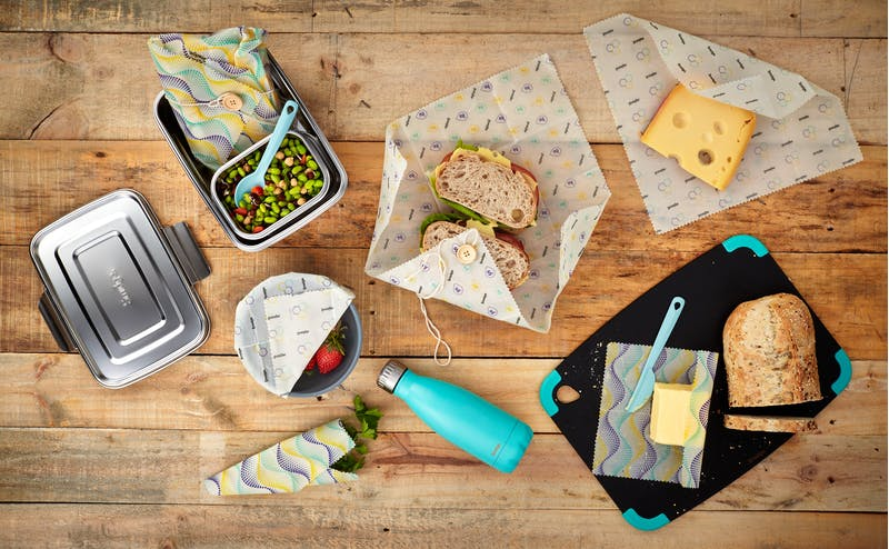 Plastic-free, zero waste packed meals
