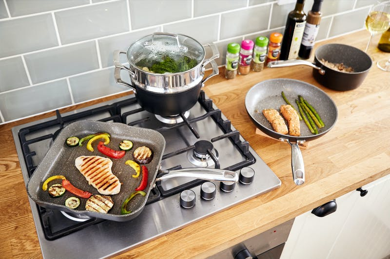 Stellar Rocktanium non-stick cookware range - perfect for healthy cooking