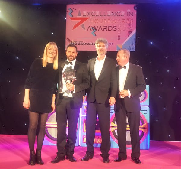 Our Sales Director Rob Jones collects the awards