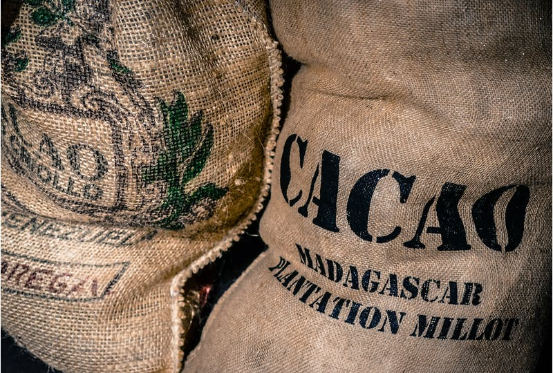 Fair trade cocoa bag