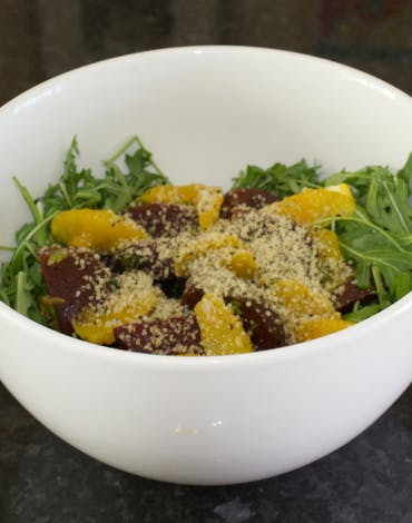 Recipe: roasted beetroot, orange and hemp seed Salad