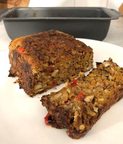 Nut roast recipe tried & tested in our Stellar Hard Anodised loaf tin