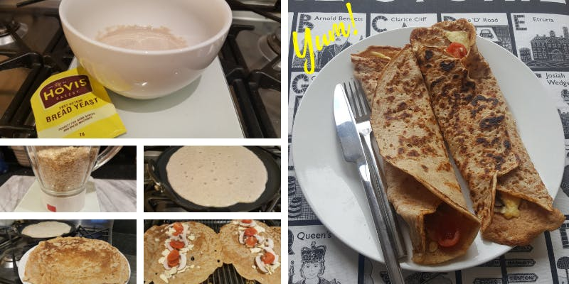 Staffordshire oatcakes step by step
