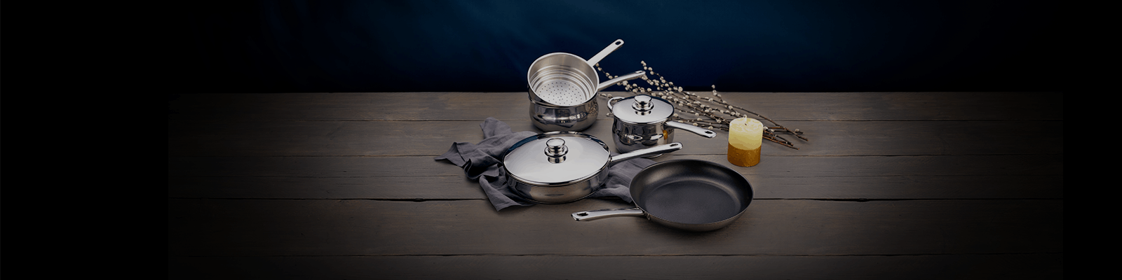 Stellar 1000 stainless steel pot and pans