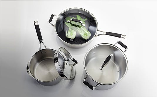 Stellar Induction stainless steel and non-stick cookware