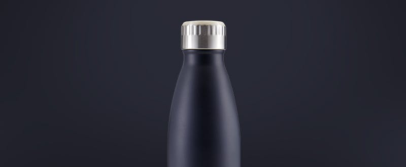 navy eco friendly insulated water bottles