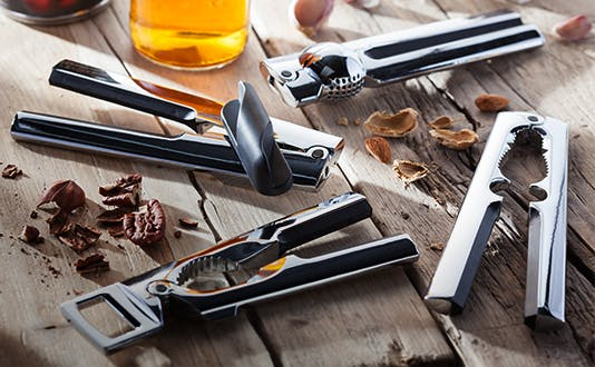 Stellar Chrome Gadgets - can opener, bottle opener, garlic press, nut cracker