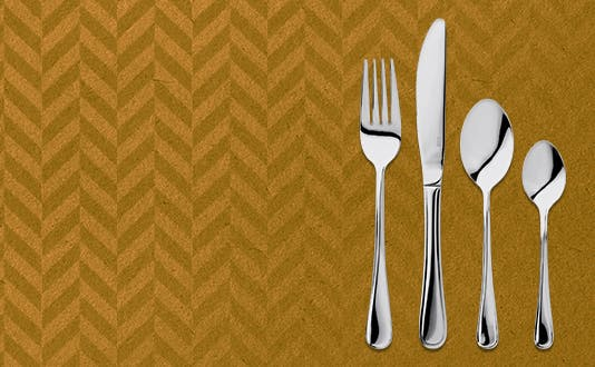 Judge Lincoln cutlery table setting