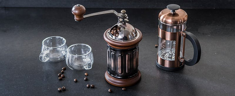 Judge rosegold Cafetiere and Coffee Grinder