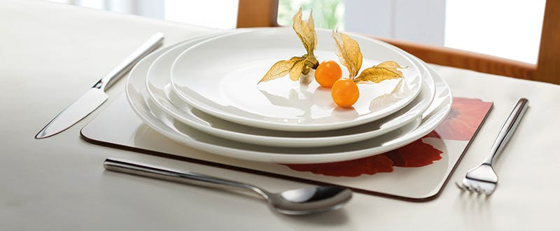 Judge white porcelain tableware - place setting