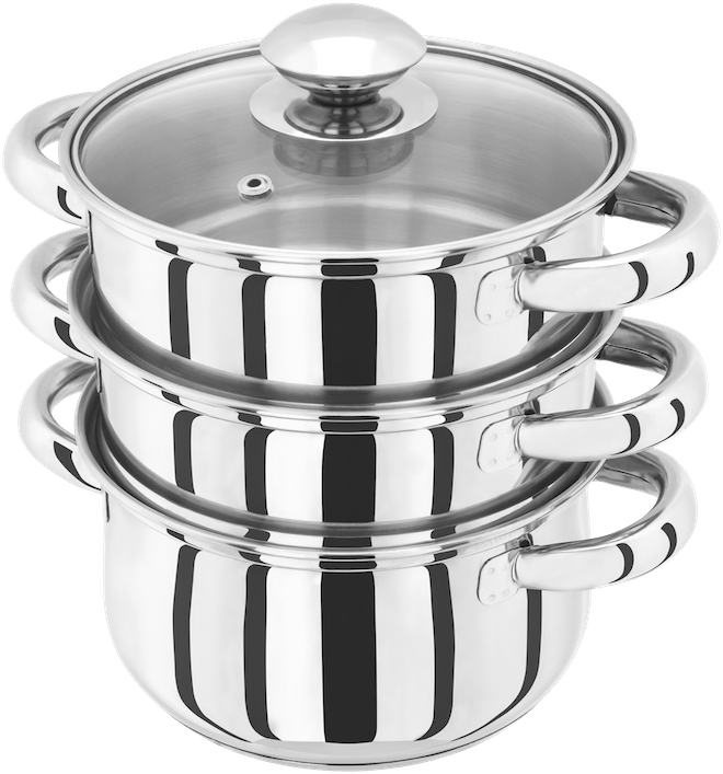 Judge Essentials  3 Tier Glass Lid Steamer Set,
