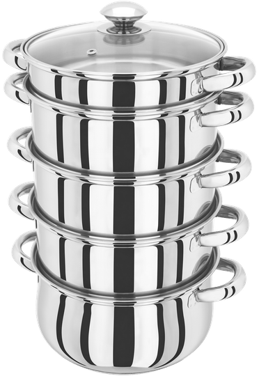 Judge Essentials  5 Tier Glass Lid Steamer Set