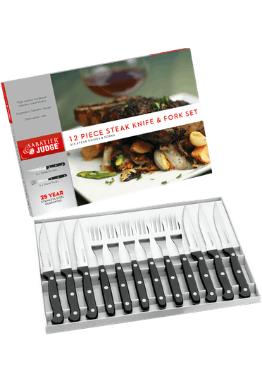 Judge Sabatier IV Steak Knife & Fork Set
