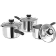 Judge Vista, 3 Piece Draining Saucepan Set