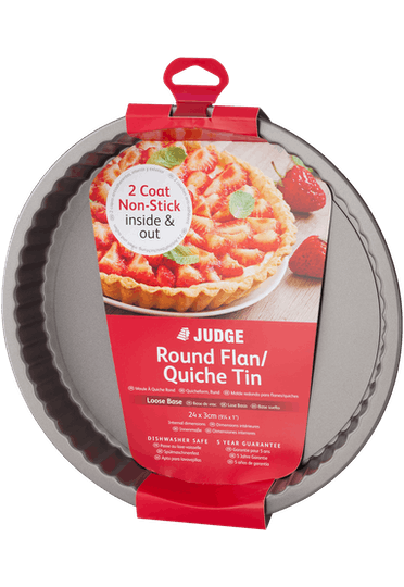 Judge Bakeware Round Flan Tin Loose Base Non-Stick