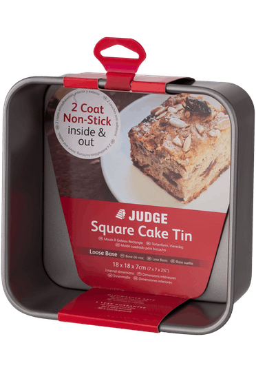 Judge Bakeware Square Cake Tin Loose Base Non-Stick