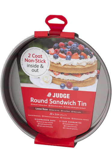 Judge Bakeware  Round Sandwich Tin Loose Base Non-Stick