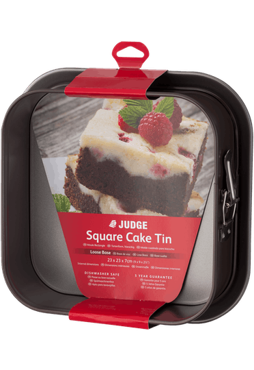 Judge Bakeware Square Cake Tin Springform Non-Stick