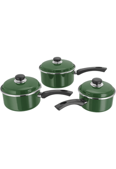 Judge Essentials Enamel Saucepan Set Non-Stick
