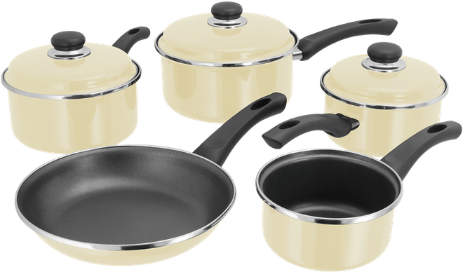 Judge Induction 5 Piece Saucepan Set Non-Stick