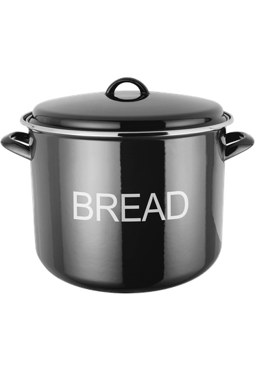Judge Induction  Bread Crock enamel