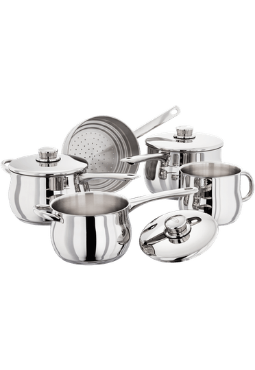 Stellar 1000 5 Piece Deep Saucepan Set
