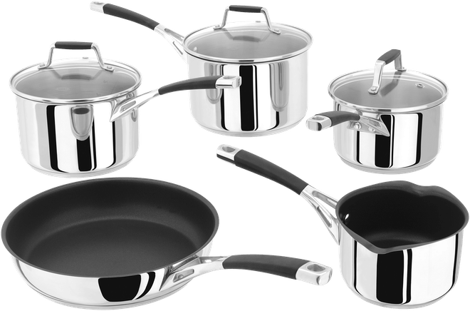Stellar Induction 5 Piece Saucepan Set