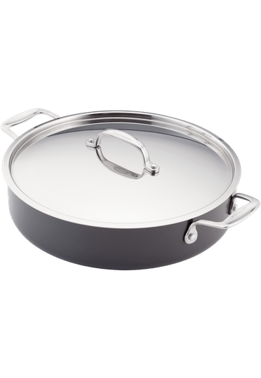 Stellar Hard Anodised Sauteuse Pan Non-Stick