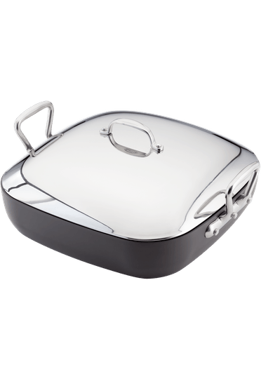 Stellar Hard Anodised Square Roaster Non-Stick