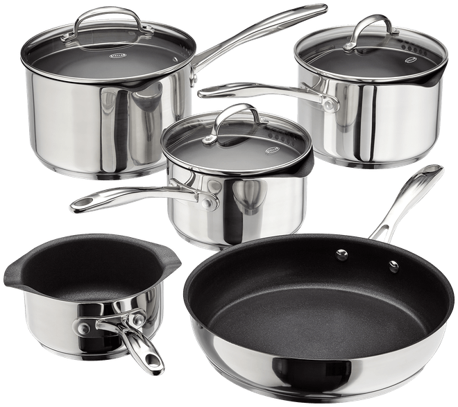 Stellar 7000 5 Piece Non Stick Draining Saucepan Set