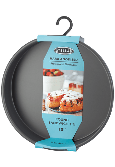 Stellar Hard Anodised Round Sandwich Tin