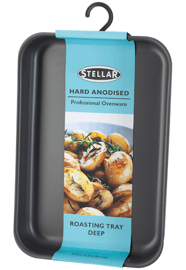 Stellar Hard Anodised Deep Roasting Tray