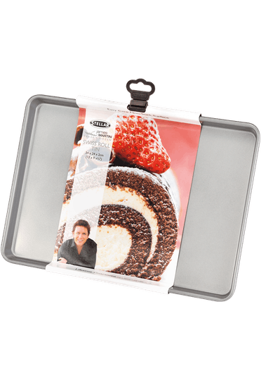Stellar James Martin Bakers Dozen Swiss Roll Tin Non-Stick