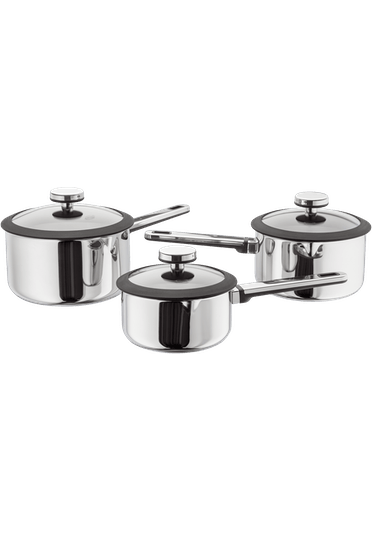 Stellar Stay Cool Draining Saucepan Set