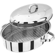 Judge Speciality Cookware  Oval Roaster with Rack,