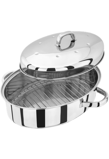 Judge Speciality Cookware Oval Roaster with Self Basting Lid & Rack