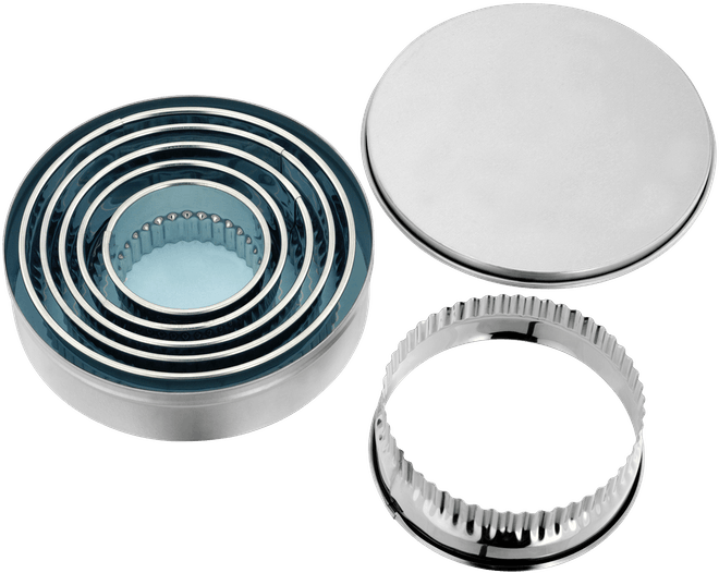 Judge Bakeware Round Crinkle Edge Cutters