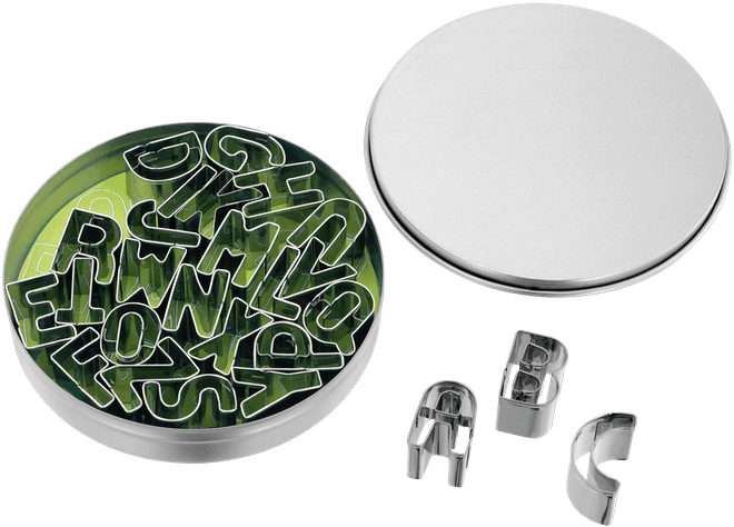 Judge Bakeware Alphabet Cutters in Tin Box