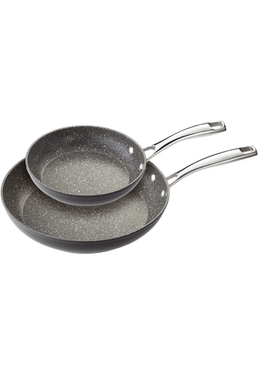 Stellar Rocktanium 2 Piece Non-Stick Frying Pan Set